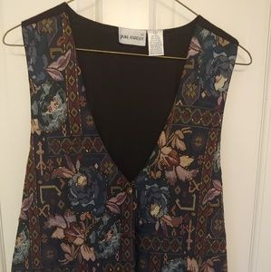 Boho Vintage 90's Jane Ashley Vest Medium Women's